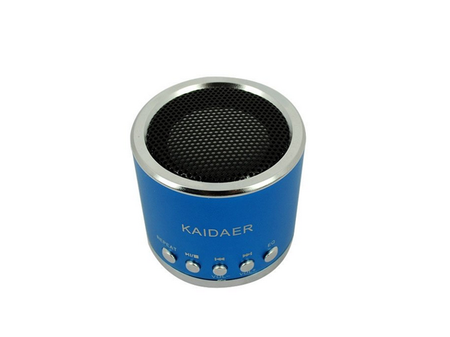 Portable Rechargeable Mini Speaker For ipod, mp3, mp4, micro sd, laptop, aux. - Dark Blue