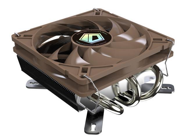 ID-COOLING IS-40 Low-Profile CPU Cooler for Mini-ITX/HTPC, 45mm High, 3 Copper Heatpipe & 92mm Fan, Intel LGA1150/1155/1156/775, AMD ...