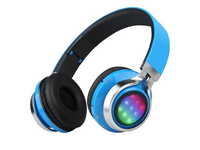 Sound Intone K8 Bluetooth Wireless Stereo Headphones with Handsfree Built-in Mic/LED Lights/Volume Control/Adjustable and Foldable/Portable ...