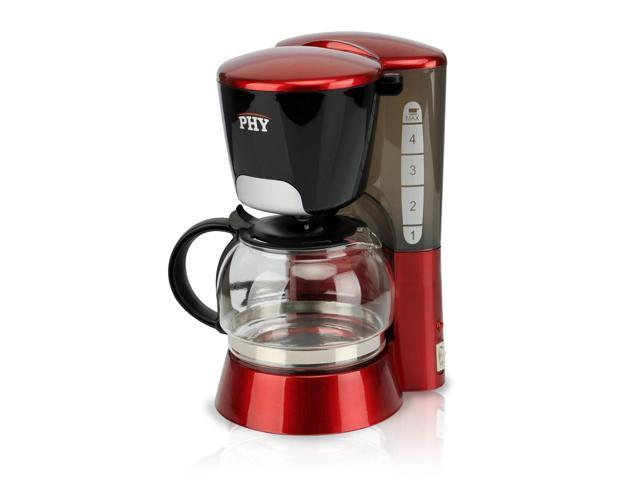 PHY 4-Cup/0.6L Switch Coffee Maker / Coffeemaker with Glass Carafe & Permanent Filter