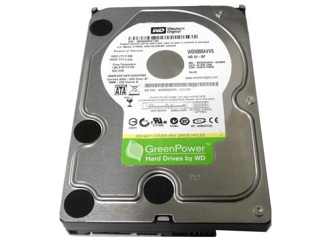 Western Digital WD AV-GP WD5000AVVS 500GB 8MB Cache SATA2 (3.0Gb/s) 3.5