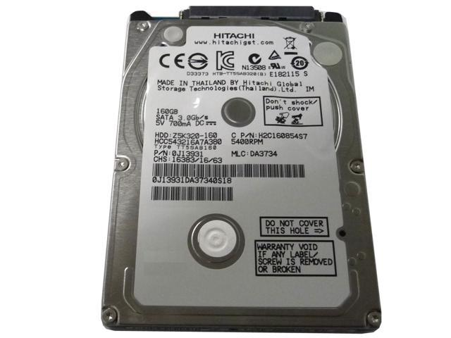 Hitachi 160GB 5400RPM 8MB 2.5
