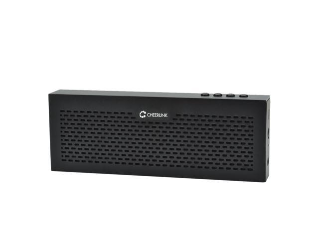CHEERLINK EWA Aluminum Hands Free Portable Wireless Bluetooth Speaker with Built-in 4 hour Rechargeable Battery - Black