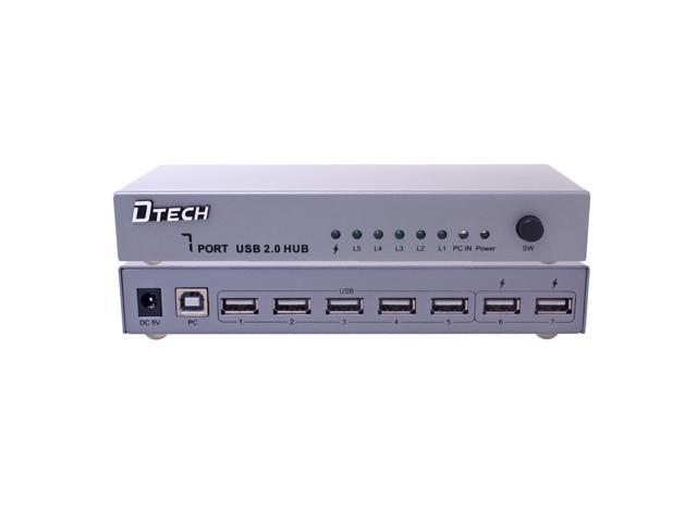 DTECH DT-3207 Industrial 7 Port USB Hub with with Power Adapter(5V/3A)