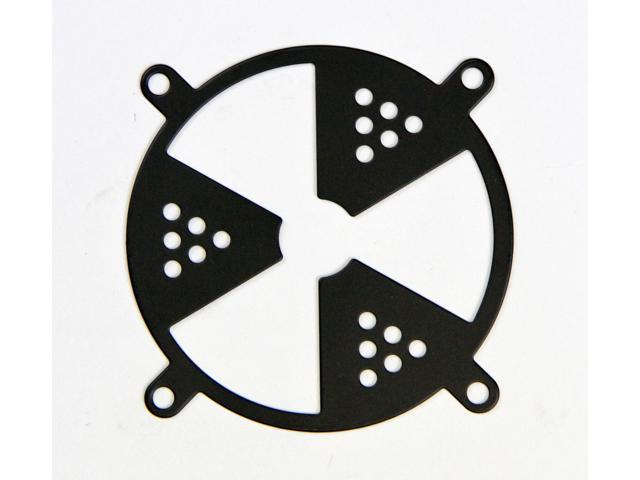Plated Steel 80mm Fan Grills - Radiation, Color: Black