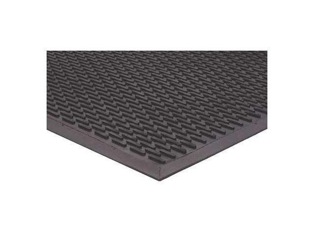 APACHE MILLS 7937609004x6 Rubber Entrance Mat, Black, 4 x 6 ft.
