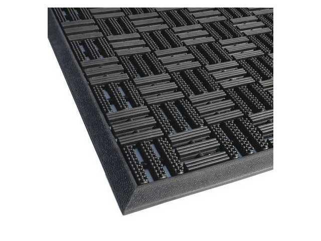 APACHE MILLS 39392090032X39 Rubber Entrance Mat, Black, 32 Inx3 ft 3In