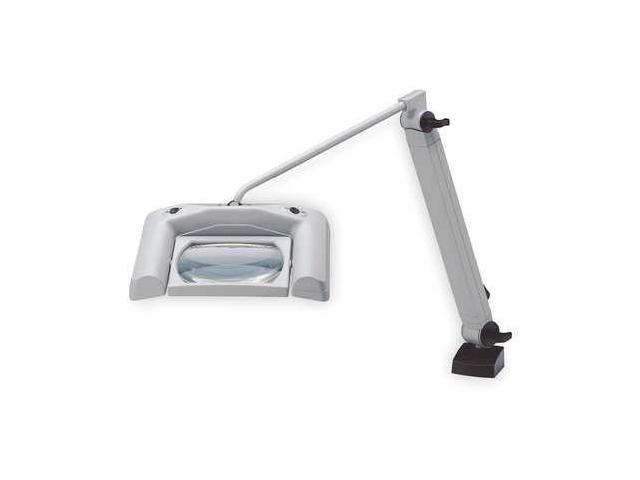 WALDMANN 047803000 Magnifier Task Light,Reach 43 In,Gray