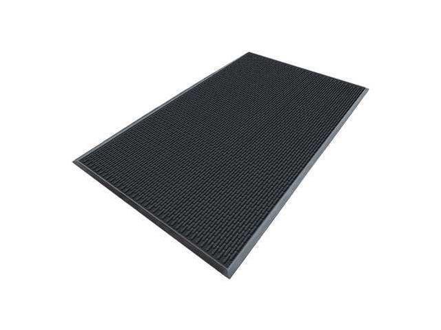 APACHE MILLS 7937609003x5 Rubber Entrance Mat, Black, 3 x 5 ft.