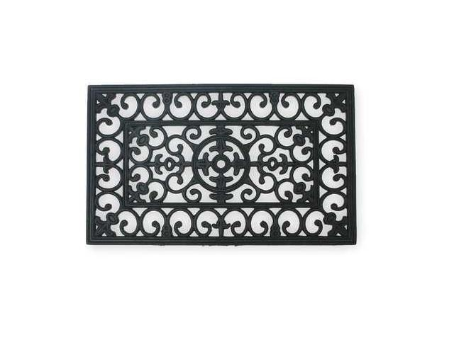 Mat, Rubber Grill,Black,18x30In, Rectangle