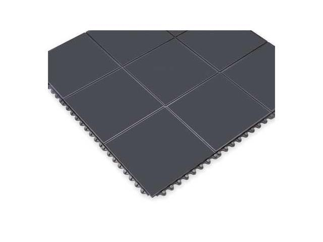 NOTRAX 556S0033BL Antifatigue Mat, 3 x 3 ft., Black, Rubber