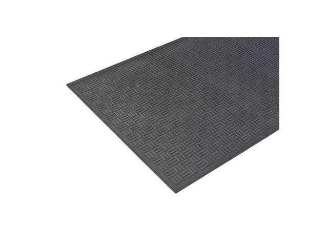 APACHE MILLS 78060950120000300 Rubber Entrance Mat,Black,2 x 3 ft.