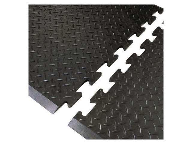 NOTRAX 545E3631BL Antifatigue Mat, 3 ft.x31 In, Black, Rubber