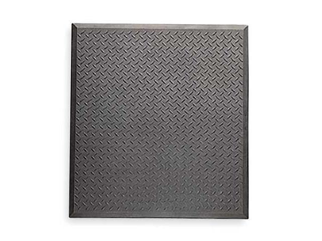 NOTRAX 545S3631BL Antifatigue Mat, 3 ft.x31 In, Black, Rubber