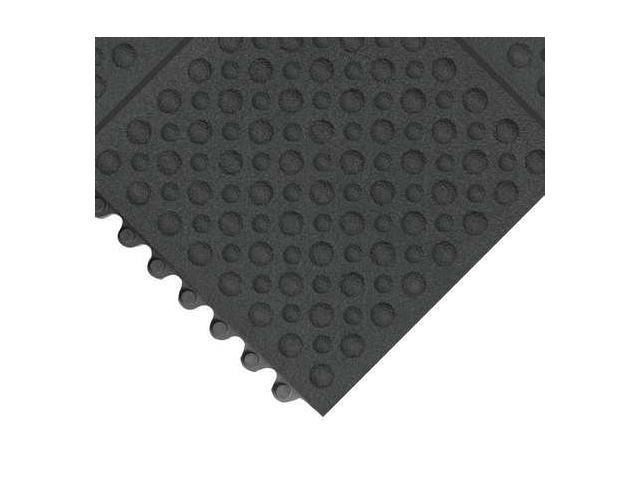 NOTRAX 557S0033BL Antifatigue Mat,3 x 3 ft.,Black,Rubber