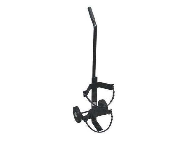 AMEREX 859 Fire Extinguisher Cart,Black,Steel