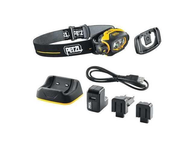 PETZL E78CHR Safety Approved Headlamp,LED,55 Lm/Black