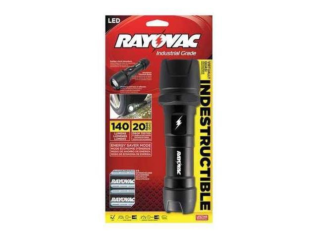RAYOVAC DIY2DB Flashlight,LED,Black,140/25 L,D