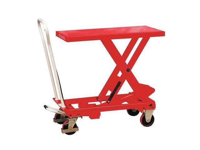 DAYTON 33W288 Scissor Lift Cart, 550 lb., Steel, Fixed