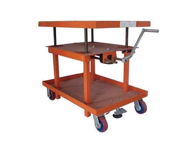 DAYTON 11A564 Scissor Lift Cart, 2000 lb., Steel, Fixed