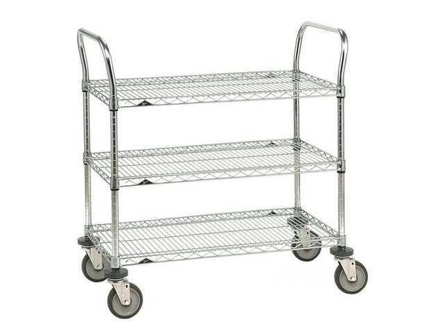 METRO 3SPN33ABR 1PK/25 Wire Cart, 18 In. W, 36 In. L, Steel