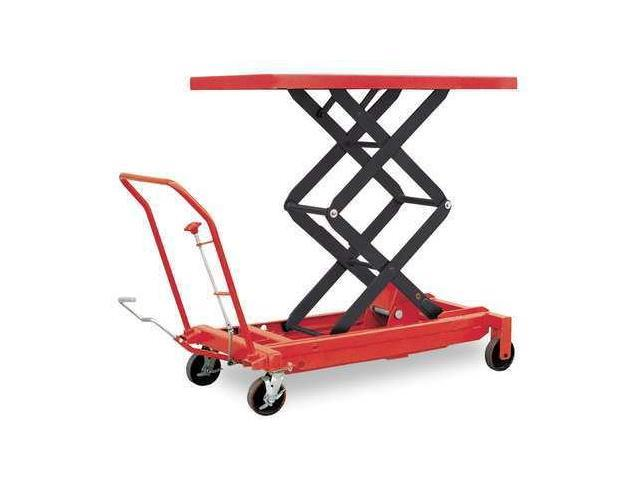 DAYTON 4ZD01 Scissor Lift Cart,1500 lb.,Steel,Fixed