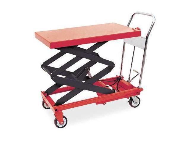 DAYTON 3KR47 Scissor Lift Cart,800 lb.,Steel,Fixed