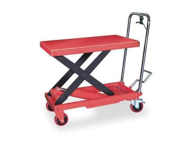 DAYTON 6W803 Scissor Lift Cart,1000 lb.,Steel,Fixed