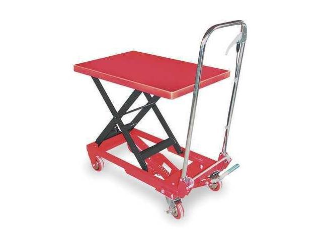 DAYTON 3KR46 Scissor Lift Cart,400 lb.,Steel,Fixed