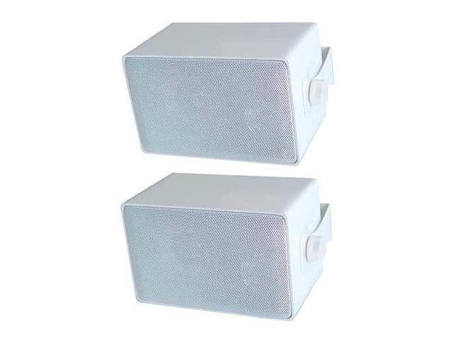 SPECO TECHNOLOGIES DMS3PW 3Way, Indoor/Outdoor Speaker,4 In,White