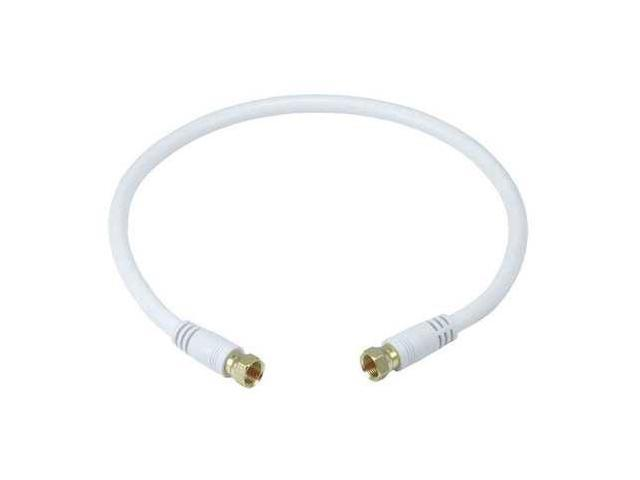 5360 Video Cable,F Type,Coaxial,RG6,1.5ft,Wht,