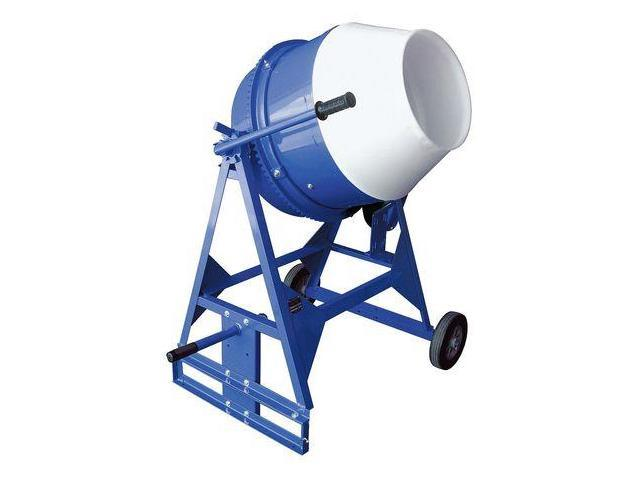 MARSHALLTOWN MIX61114 Concrete Mixer, 3 Cu. Ft., Electric, 1/2HP