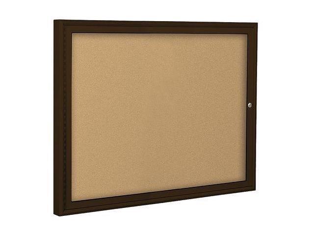 BALT 94PCUI Enclosed Bulletin Board,Coffee,1 Door G6099125