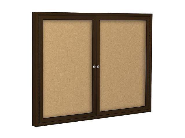 BALT 94PCCI Enclosed Bulletin Board,Coffee,2 Door G7450956