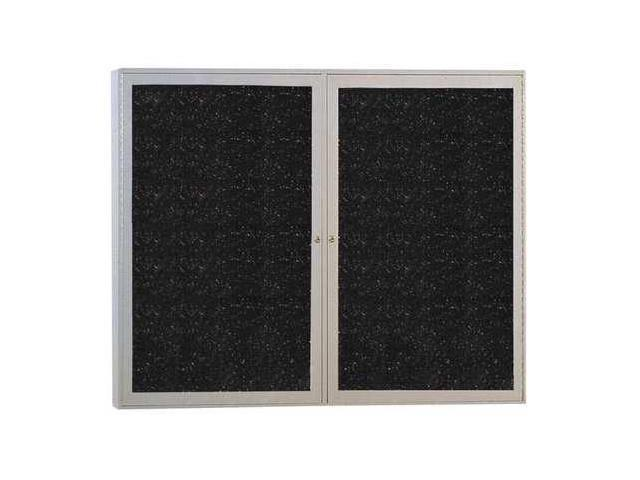 GHENT PA23648TRCF Enclosed Bulletin Board, Rubber, 36