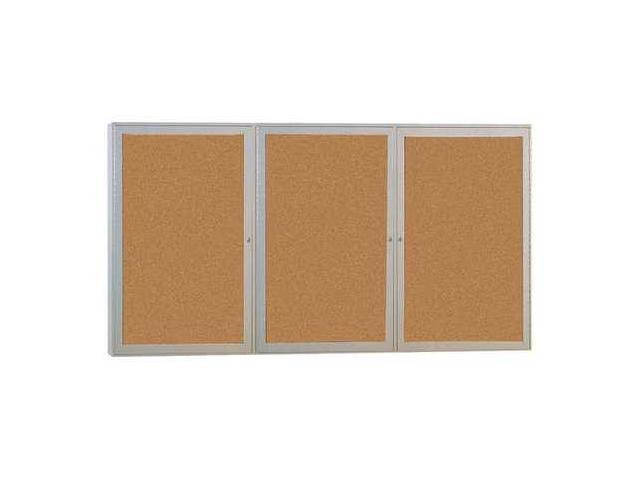 GHENT PA34896VX181 Enclosed Bulletin Board,Tack,96x48 In. G7561172