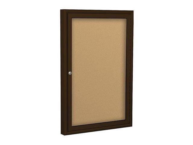 BALT 94PCBI Enclosed Bulletin Board,Coffee,1 Door G7533967