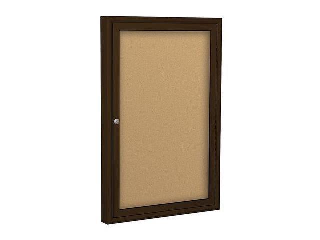BALT 94PCAI Enclosed Bulletin Board,Coffee,1 Door G7549586
