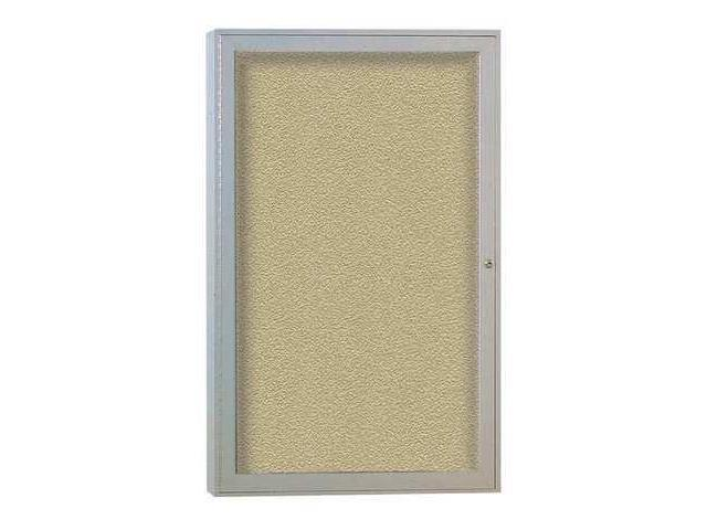 GHENT PA13636VX181 Enclosed Bulletin Board,Tack,36x36 In. G7608422