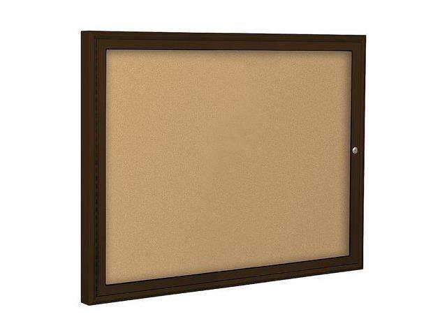 BALT 94PC1I Enclosed Bulletin Board,Coffee,1 Door G8479511