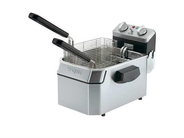 WARING COMMERCIAL WDF1000 Electric Deep Fryer,120V,10 Lb, Stainless Steel