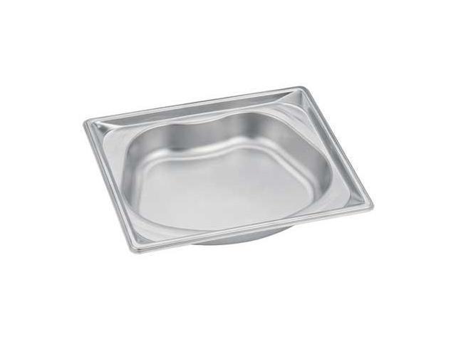 VOLLRATH 3102120 Steam Table Pans, Half Kidney