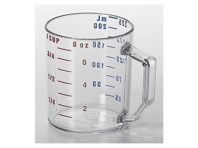 CAMBRO CA25MCCW135 Dry Measuring Cup, 1 Cup, Clear, PK 12