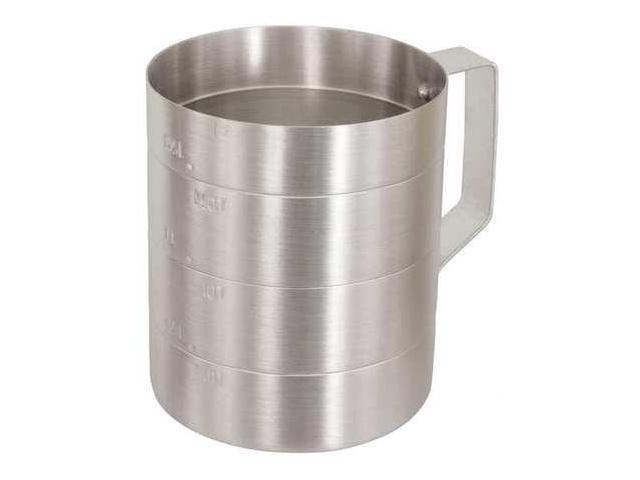 CRESTWARE MEA01D Measuring Cup, Aluminum, 1 qt. Dry