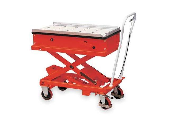 DAYTON 2MPP8 Scissor Lift Cart,2200 lb.,Steel,Roller