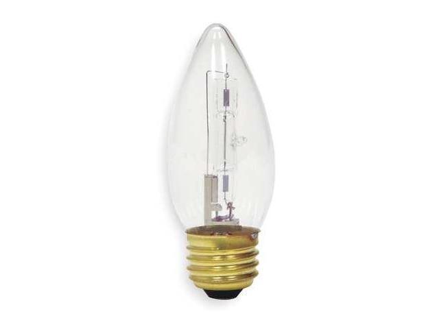 GE LIGHTING 40BM/H/CD2 Halogen Light Bulb,B10,40W,PK2
