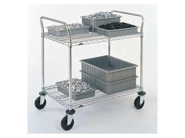 METRO 2SPN53ABR 1PK/25 Wire Cart, 24 In. W, 36 In. L, Steel