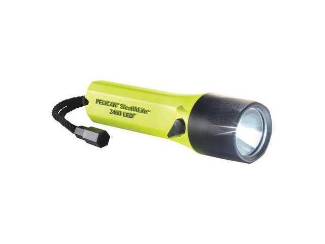 PELICAN 2460 Rechargeable Flashlight, Yellow, LED, 126Lm