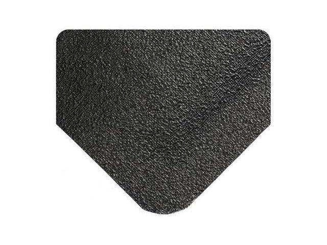 WEARWELL 447 Antifatigue Mat, 3 x 5 ft., Black, Rubber