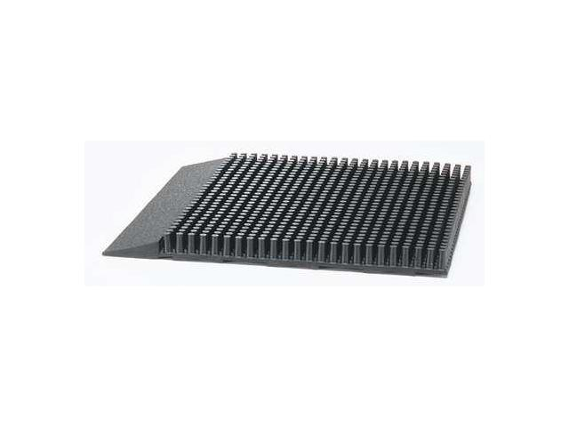 NOTRAX 347 Rubber Entrance Mat, Black, 16 In x 2 ft.